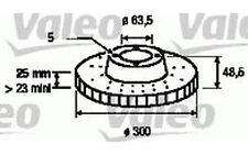 VALEO Disco de freno (x2) Antes 300mm ventilado FORD FOCUS VOLVO S40 186863