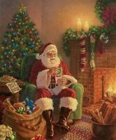 Christmas Santa Milk & Cookies Digital Print Cotton Fabric Panel, Riley Blake