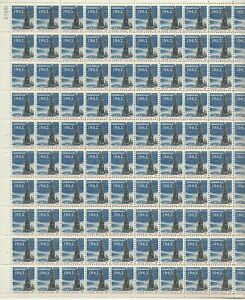1963 5 cent Christmas Tree Full Sheet of 100 Scott #1240, Mint NH
