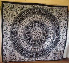 Comercio Justo Sepia tribal zulú Diseño Cubierta De Cortina Tiro Colcha De Algodón Nueva