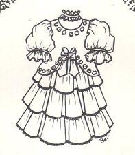 Doll clothes Sewing Pattern Antique design dress Bjd You Pick Size