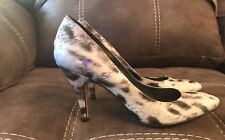 Women's Antonio Melani Heels Size 7M Grey Black Shiny Marble Look Good Condition