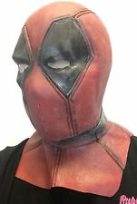 Deluxe adulte hommes latex deadpool masque costume robe fantaisie comique avec super héros