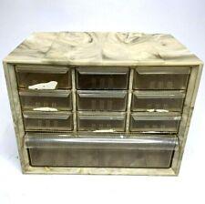 Rare Akro Mils 10 Drawer Storage Cabinet Organizer Part Bin Swirl Marble Plastic
