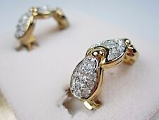 with Swarovski Crystals 0902 D'Orlan Gold Plated Clip-on Earrings
