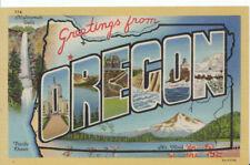 America Postcard - Greetings From Oregon - America - Ref 8289A