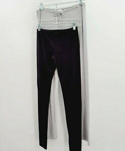 Studio La Perla Lot of 2 Soft Lightweight Lounge Pants Sz 1 & 2 Wide Leg Gray
