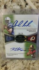 2012 TOPPS PARAMOUNT PAIRS DUAL RC AUTO ANDREW LUCK / ROBERT GRIFFIN III #'RD 25