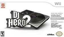 DJ Hero 2 Bundle with Tunable Controller Wii Game *VGWC!* + Warranty!
