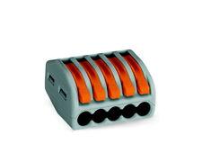 Wago 222-415 40x Verbindungsklemme 5-Leiter-Klemme mit Betätigungshebel