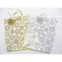 Intricate Snowflake Silver Gift Bags Large size and 30 Assorted Luxury Gift Tags