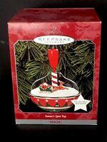 Hallmark Keepsake Ornament Santa's Spin Top, Magic Motion Sleigh Reindeer 1998
