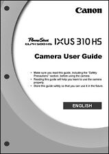 Canon ELPH 500 HS IXUS 310 HS Digital Camera User Guide Instruction  Manual