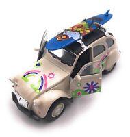 Citroën 2CV Modèle IN Beige Planche de Surf Toit Fleur Maßstab 1:3 4 (Licencé)