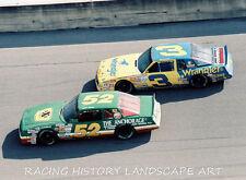 1987 DAYTONA 400 8x10 NASCAR PHOTO #3 DALE EARNHARDT SR CHEVY #52 JIMMY MEANS