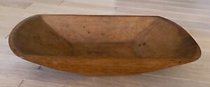 Authentic antique walnut wooden dough trencher