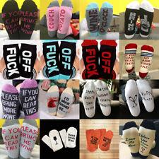 Womens Mens Funky Letter Print Design Casual Socks Unisex Fashion Novelty Sock