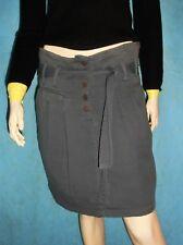 jupe SESSUN 100% coton gris Taille 38 modèle : trick pony TRES BON ETAT