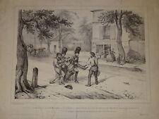 GRANDE Litho VICTOR ADAM Mort du DUC d'ORLEANS NEUILLY PARIS LOUIS PHILIPPE 1842