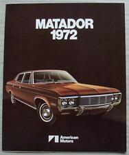 AMERICAN MOTORS AMC MATADOR USA Car Sales Brochure 1972 #AMX 7204