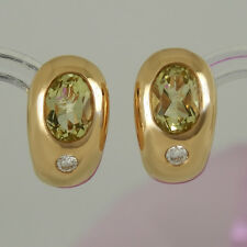 Ohrringe in 585/- Roségold mit 2 Lemoncitrinen 1,18 ct + 2 Diamanten 0,08 ct NEU