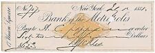 Pristine, Union General Daniel E. Sickles, Personal Check Filled Out & Signed