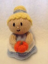 KNITTING PATTERN - Cinderella with pumpkin princess orange cover or 15 cms toy