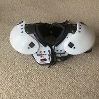 Riddell Warrior II W-100 Football Shoulder Pads - Shoulder Size 12-13 White