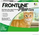 FRONTLINE PLUS CATS & KITTENS FLEA & TICK CONTROL 6 DOSES BRAND NEW For Sale