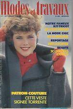 Modes et travaux N°994 septembre 1983  page poupées tricot  couture tissage