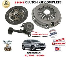 FOR NISSAN QASHQAI 1.6i J10 JJ10 2006-2014 NEW CLUTCH PLATE COVER BEARING KIT