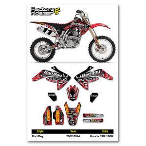 Honda CRF 150 R 2007-2014 Dirt Bike Graphic Decal BADBOY Racing By Enjoy Mfg