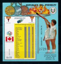[72541] Paraguay 1976 Olympic Games Montreal Medal Table Souvenir Sheet MNH