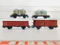 AQ726-1# 4x Märklin H0/AC Güterwagen: Quarz Werke DB+Braunkohlenstaub+SBB+NS