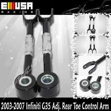 For 03-08 Nissan 350Z Coupe 2-Door Adjustable Rear Toe Control Arm BLACK