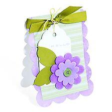 Sizzix Bigz XL Scallop Card die #655419 Retail $39.99 Retired, Beautiful!!