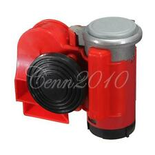 12v 136db Red Snail Compact Air Horn Airhorn Car Truck Motorcycle Boat RV