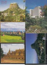 MYANMAR 8 Cartes Postales 1960-2000