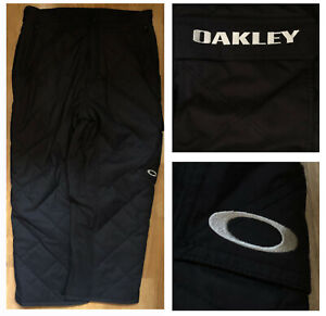 OAKLEY WATERPROOF BREATHABLE INSULATED Men's Black Snow Ski Pants sz XXL NWOT