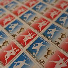 FEUILLE SHEET TIMBRE SPORT FOOTBALL N°1940 x25 1977 NEUF ** LUXE MNH