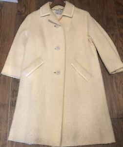 Size SM 60/'s Boucle Wool Winter Dress 15/% 1960/'s Red Wool Coat Dress ON SALE