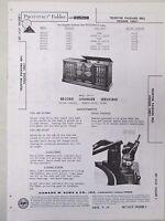 Sams Photofact Radio Parts Manual Teledyne Packard Bell Chassis 10HF1 Record