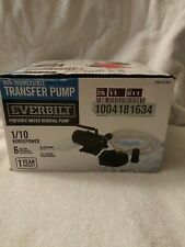 Everbilt 1/10 Hp Non-Submersible Portable Water Transfer Pump-New Open Box