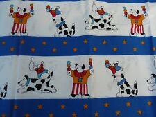 Vintage 1988 NTT USA 1 1/2 YARDS baby fabric circus Dogs cotton quilt fabric