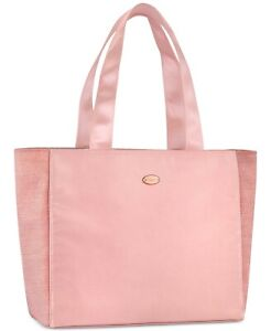 COACH Gym Travel Tote Bag Large Size Pink Shimmer Glitter NEW!