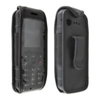 caseroxx Leather-Case with belt clip for Cat B35 in black made of genuine leathe