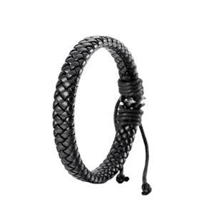 Men Women Woven Rope New Charm Leather Brown Bracelet Bangle Jewelry Brazalete