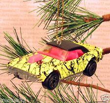 DODGE CHALLENGER CHRISTMAS ORNAMENT Yellow/Black/Pink rare XMAS