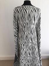 Black and Cream Zebra Jacquard Stretch Jersey Dressmaking Fabric