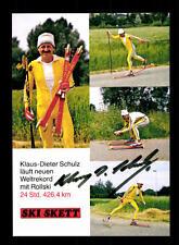 Klaus Dieter Schulz Autogrammkarte Original Signiert Skilanglauf + A 166473